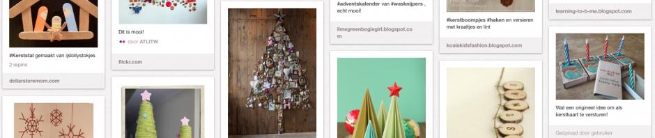 printscreen Kerst DIY Pinterest bord van de Schildertuin