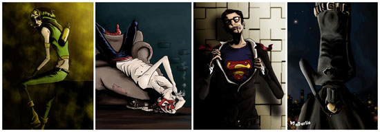 'Superheroes', illustraties van nDurlie